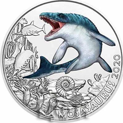 Австрия 3 евро 2020 год «MOSASAURUS» (реверс).jpg