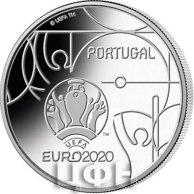 Португалия 2.5 евро 2020 год «Чемпионат Европы по футболу 2020» (аверс).jpg