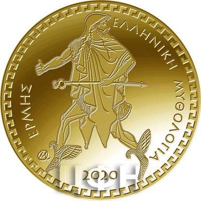 2020, 100 евро Греция, памятные монеты - «Гермес», серия «Греческая мифология» (реверс).jpg