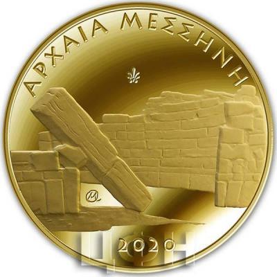 2020, 50 евро Греция, памятная монета - «Древняя Мессина», серия «Культурное наследие» (реверс).jpg