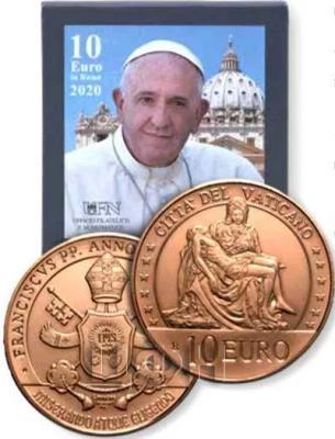 «2020, 10 евро Ватикан, памятная монета - «Благочестие», серия «Искусство и вера»» (2).jpg
