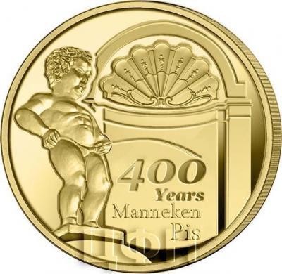 «2019 год, 2 ½ евро Бельгия, памятная монета - Фонтан «Писающий мальчик»» (1).jpg