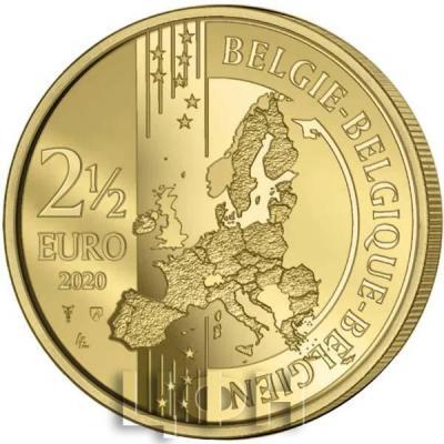«2020 год, 2 ½ евро Бельгия, памятная монета - «100-летие Олимпийских игр в Антверпене»» (1).jpg
