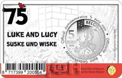 «2020, 5 евро Бельгия, памятная монета - «75 лет комиксу - Боб и Бобетт»» (4).jpg