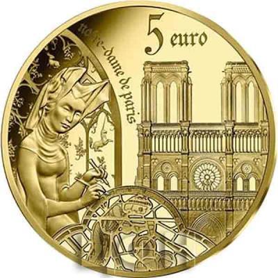 «5 euros Or 12 gramme BE – l'âge du Gothique, Notre-Dame de Paris» (3).jpg