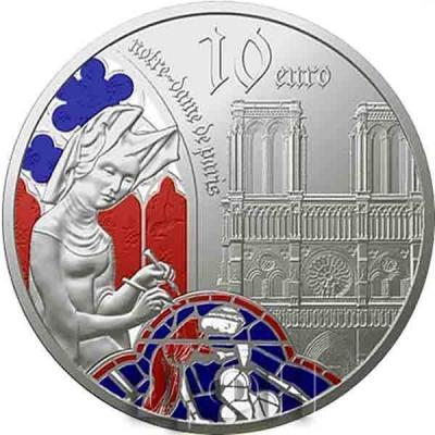 «5 euros Or 12 gramme BE – l'âge du Gothique, Notre-Dame de Paris» (4).jpg