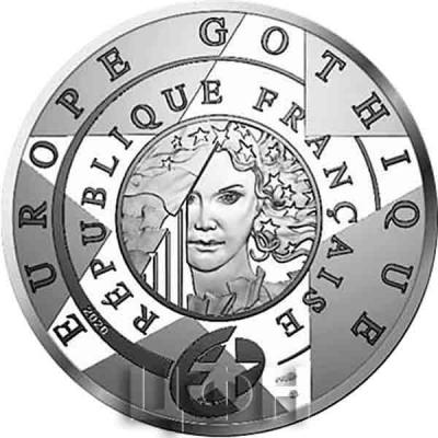 «5 euros Or 12 gramme BE – l'âge du Gothique, Notre-Dame de Paris» (2).jpg