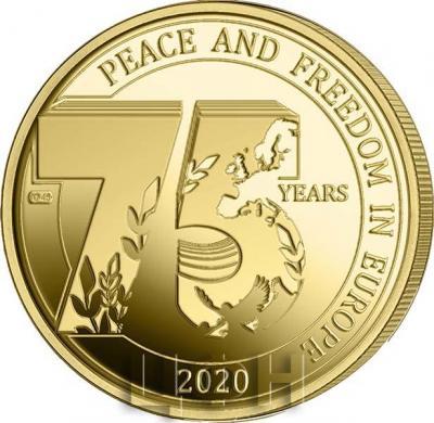 2020 год, 2 ½ евро Бельгия, памятная монета - «75 лет мира и свободы в Европе» (1).jpg