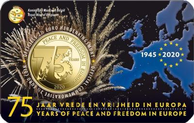 2020 год, 2 ½ евро Бельгия, памятная монета - «75 лет мира и свободы в Европе» (4).jpg