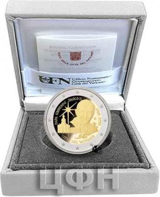 «2020, 2 евро Ватикан, памятная монета - «Столетие со дня рождения Иоанна Павла II» (2).jpg