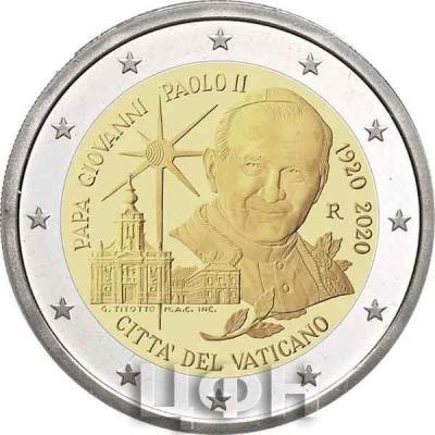 «2020, 2 евро Ватикан, памятная монета - «Столетие со дня рождения Иоанна Павла II».jpg