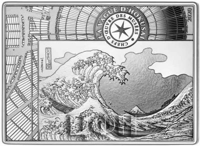 2020, серебро «Большая волна в Канагаве. Кацусика Хокусай», серия «Музейные шедевры».jpg