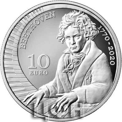 2020, 10 евро Сан-Марино, памятная монета - «250 лет со дня рождения Людвига ван Бетховена».jpg