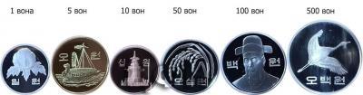 «South Korea Original Mint Set . 6 COINS  1 WON, 5 WON, 10 WON, 50 WON, 100 WON, 500 WON».jpg