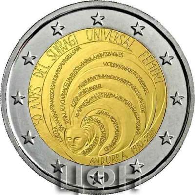 2020, 2 евро Андорра, памятная монета - «50 лет всеобщего женского избирательного права» (3).jpg