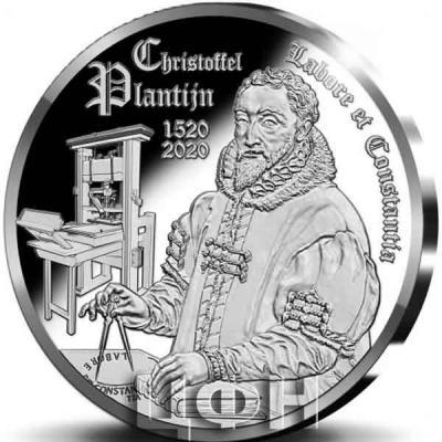 «2020, 10 евро Бельгия, памятная монета - «Христофор Плантен»»..jpg