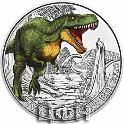 «TYRANNOSAURUS REX Supersaurus Glow In The Dark Coin 3€ Euro Austria 2020» 2.jpg