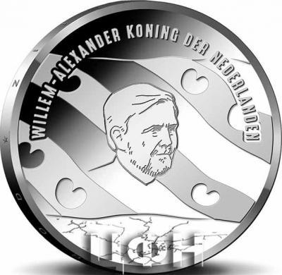 2020, 5 евро Нидерланды, памятные монеты «Паровая насосная станция Вауда» 1.jpg
