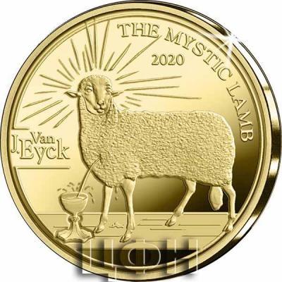 «Pièce de 50 euros Belgique 2020 « Gothique – Jan van Eyck » Belle-épreuve en Or» 1.jpg