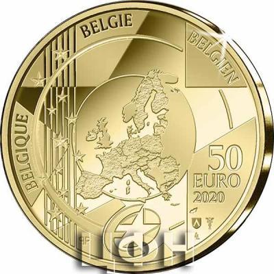 «Pièce de 50 euros Belgique 2020 « Gothique – Jan van Eyck » Belle-épreuve en Or» 2.jpg