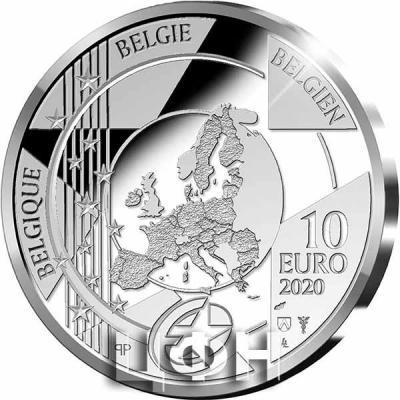 «Pièce de 10 euros Belgique 2020 « Gothique – Jan van Eyck » Belle-épreuve en Argent»..jpg