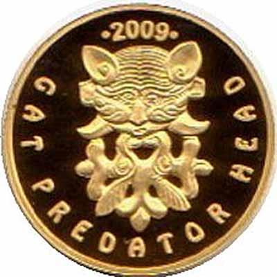 Кошачий хищник с оленями. Сокровища древних курганов. Монета 100 тенге. 2009 год, Казахстан.jpg