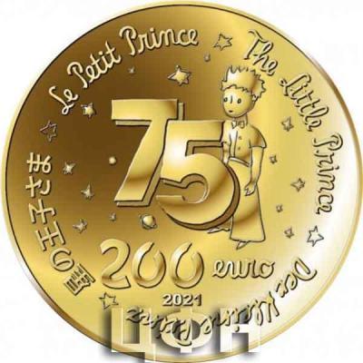 «LE PETIT PRINCE ET LES ÉTOILES - 200 EUROS 1 OZ OR BE FRANCE 2021 75 ANS DU PETIT PRINCE».jpg