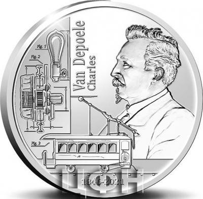 «5 euromunt België 2021 '175 jaar Charles Van Depoele' Zilver Proof».jpg