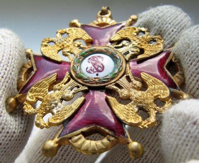 Орден Святого Станислава. 3 степени. Временное правительство (аверс 4).jpg