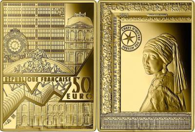 «50 Euro GIRL WITH A PEARL EARRING Vermeer Masterpieces Of The Museum Gold Coin 50€ Euro France 2021 Proof».jpg