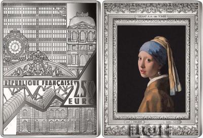 «GIRL WITH A PEARL EARRING Vermeer Masterpieces Of The Museum Colored 12 Kg Кило Серебро Монета 250€ Евро Франция 2021».jpg